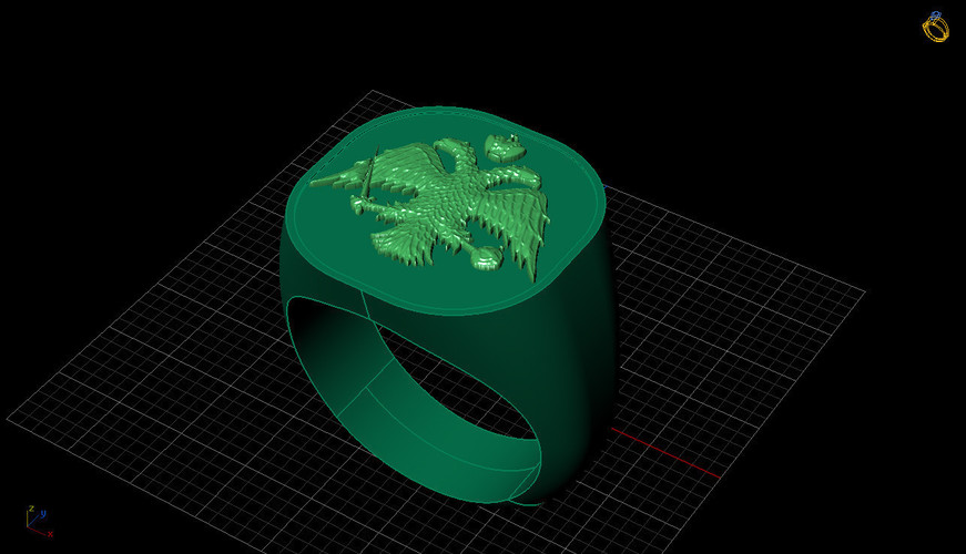 Greek Orthodox Religious Ring 3D Print 133767
