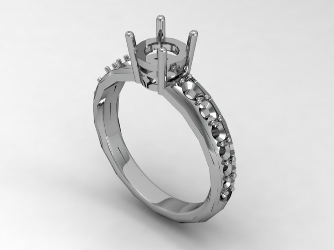 Engagement Ring Solitaire  3D Print 133828