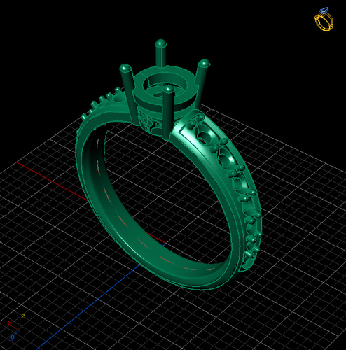 Engagement Ring Solitaire  3D Print 133832