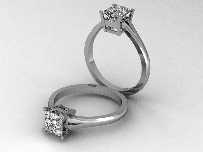 Engagement Ring 4 3D Print 133853