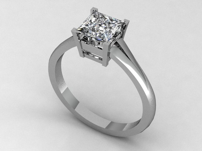 Engagement Ring 4 3D Print 133855