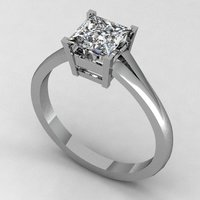 Small Engagement Ring 4 3D Printing 133855