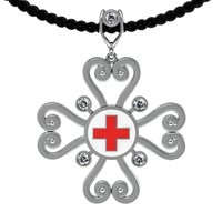 Small Red Cross Pendant Fashion 3D Printing 133867