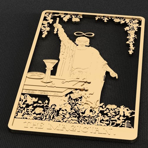 The Magician Tarot Card Brooch/Pin 3D Print 133876