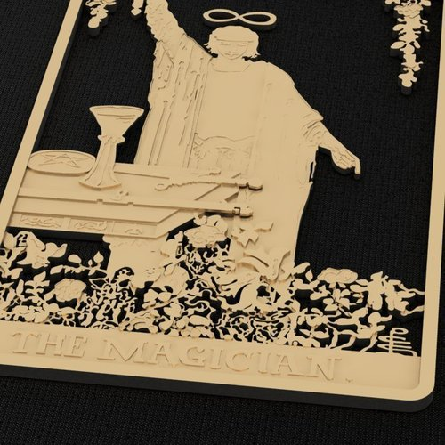 The Magician Tarot Card Brooch/Pin 3D Print 133878