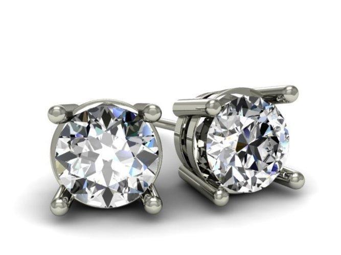 3D printed earrings Diamond