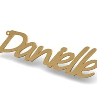 Small Danielle Name Pendant/Pin/Charm 3D Printing 133891