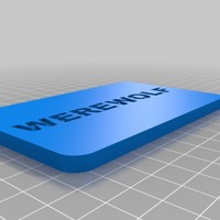Small Printable Werewolf Deck 3D Printing 13393