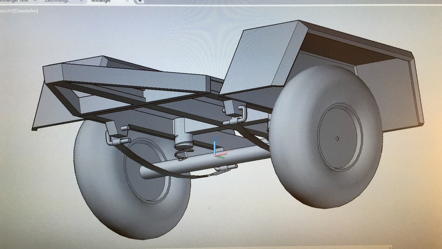 Trailer with suspension 3D Print 133930