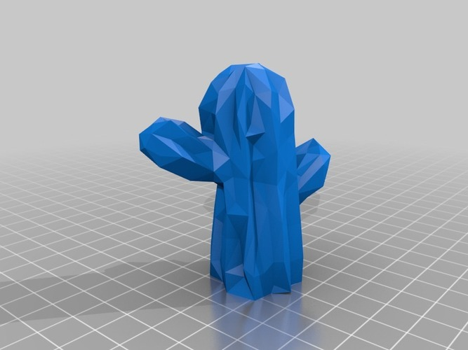 Low Poly Mexican Cactus 3D Print 13398