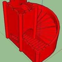 Small stairs dice tower 3D Printing 133992