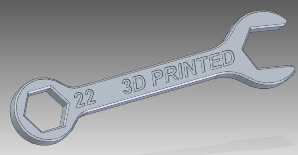 22mm wrench 3D Print 134086