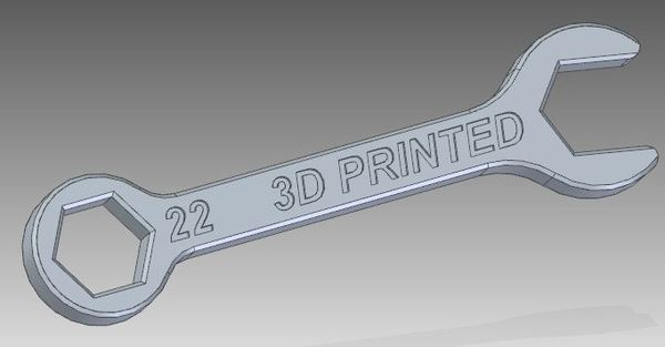 Medium 22mm wrench 3D Printing 134086