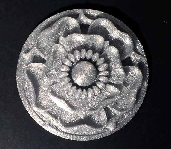 Tudor Rose Testing Piece and Pendant 3D Print 134112