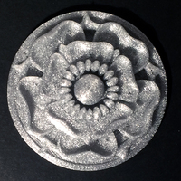 Small Tudor Rose Testing Piece and Pendant 3D Printing 134112