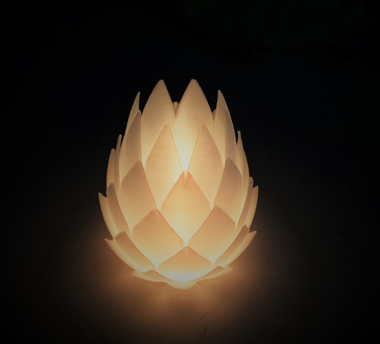 Pine Cone Tealight Candle Holder 3D Print 134116