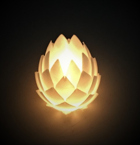 Pine Cone Tealight Candle Holder 3D Print 134117