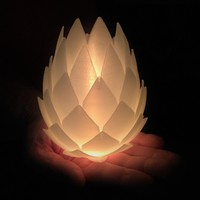 Small Pine Cone Tealight Candle Holder 3D Printing 134118