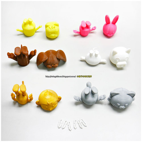 3DP Cute animal family 3D Print 134130