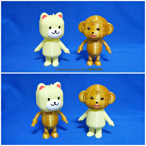 3DP Cute animal family 3D Print 134133
