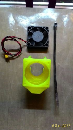 Fan Mount 40 mm. with cooling item for j_head V5.0 (25 mm.) 3D Print 134148