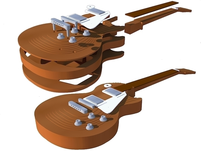 Gibson Les paul 1959 in scale of 1:4 fully 3D printable 3D Print 134176