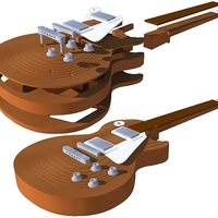 Small Gibson Les paul 1959 in scale of 1:4 fully 3D printable 3D Printing 134176