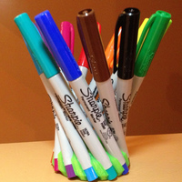 Small Crown of 12 Sharpie Ultra Fine Pens 3D Printing 13420