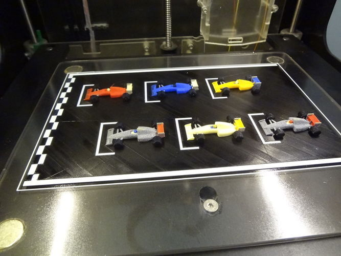 F1 starting grid - 6 colors printed in one time. 3D Print 134203