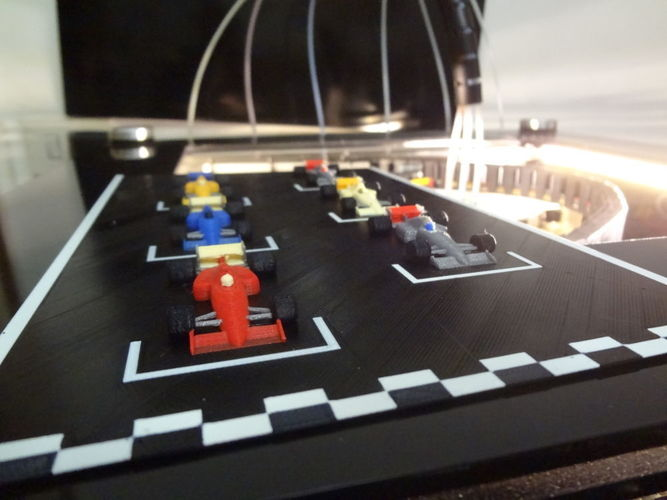 F1 starting grid - 6 colors printed in one time. 3D Print 134204
