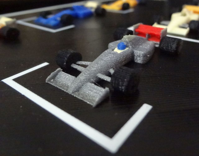 F1 starting grid - 6 colors printed in one time. 3D Print 134206