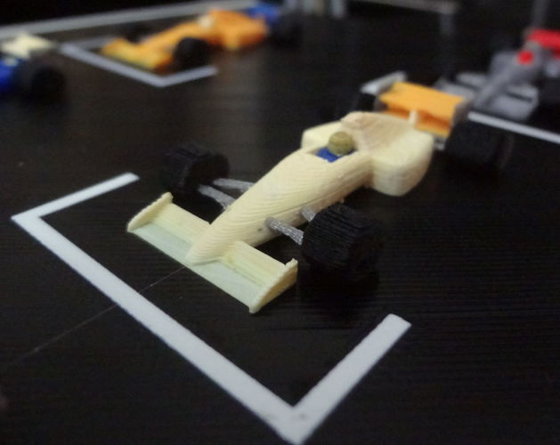 F1 starting grid - 6 colors printed in one time. 3D Print 134208