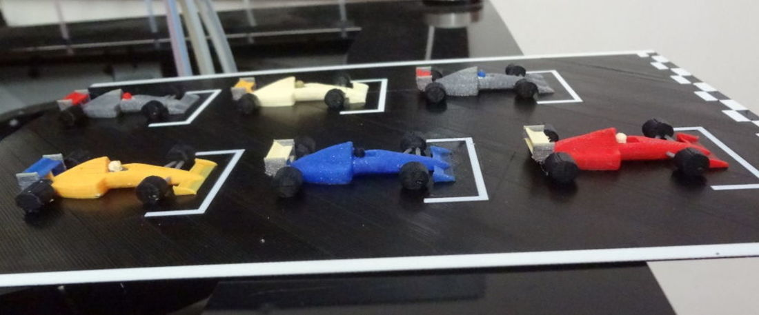 F1 starting grid - 6 colors printed in one time. 3D Print 134211