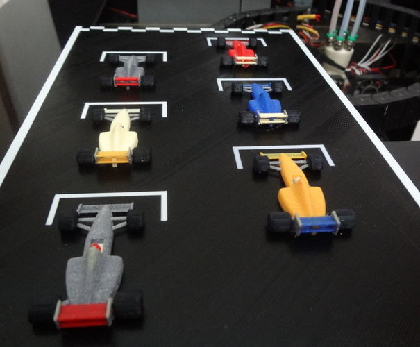 F1 starting grid - 6 colors printed in one time. 3D Print 134212