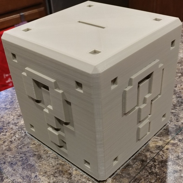 Medium Mario ? Bank with Print in Place Plug 3D Printing 134237
