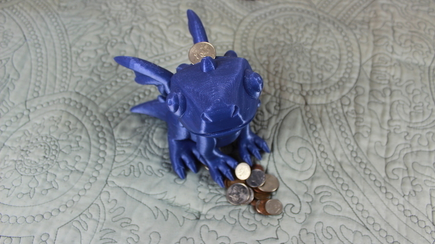 Cute Dragon Bank 3D Print 134253