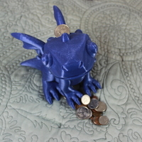 Small Cute Dragon Bank 3D Printing 134253
