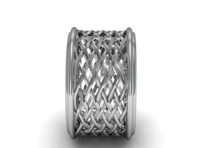 Celtic Weave/Braided Fashion Ring 3D Print 134275
