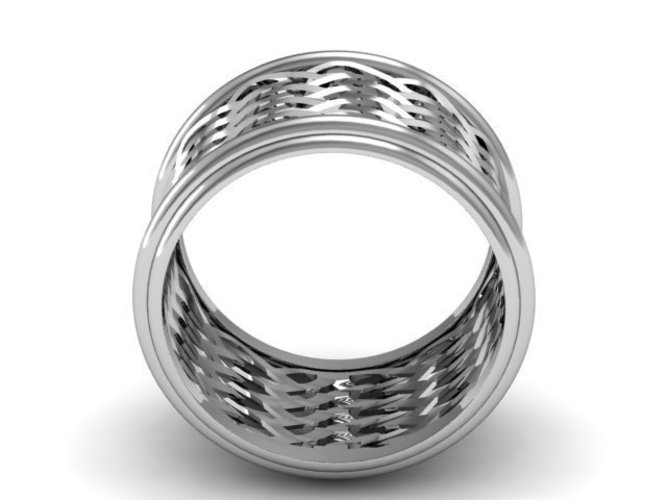 Celtic Weave/Braided Fashion Ring 3D Print 134276