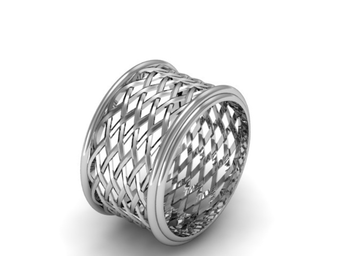 Celtic Weave/Braided Fashion Ring 3D Print 134278