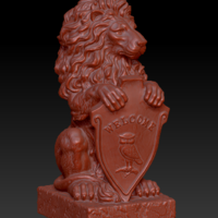 "Small Sculpture lion ""Welcome"" 3D Printing 134349"