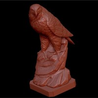 Small Eagle on rock 3D Printing 134352