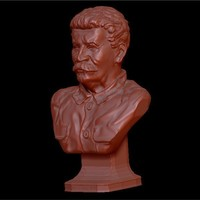 Small Bust of the generalisimus of the USSR Stalin 3D Printing 134354