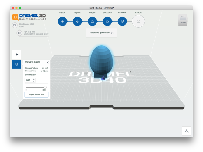 Egg to Test for Egg Drop 3D Print 134377