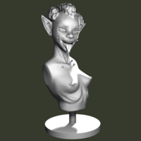 Small Goblin Bust 3D Printing 134384