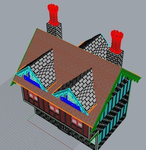 SCALEPRINT 28 MM COMPLETE TUDOR BUILDING SMALL TAVERN 3D Print 134395