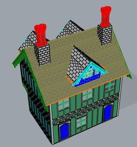 SCALEPRINT 28 MM COMPLETE TUDOR BUILDING SMALL TAVERN 3D Print 134396