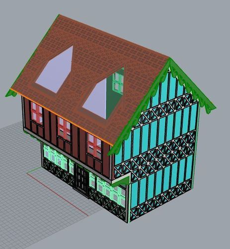 SCALEPRINT 28 MM COMPLETE TUDOR BUILDING SMALL TAVERN 3D Print 134397
