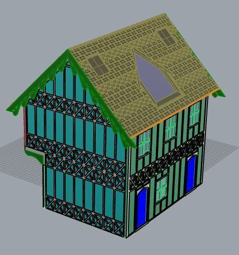 SCALEPRINT 28 MM COMPLETE TUDOR BUILDING SMALL TAVERN 3D Print 134398