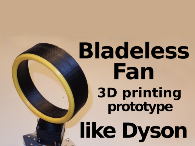 Bladeless Fan -  Prototype 3D Print 134510